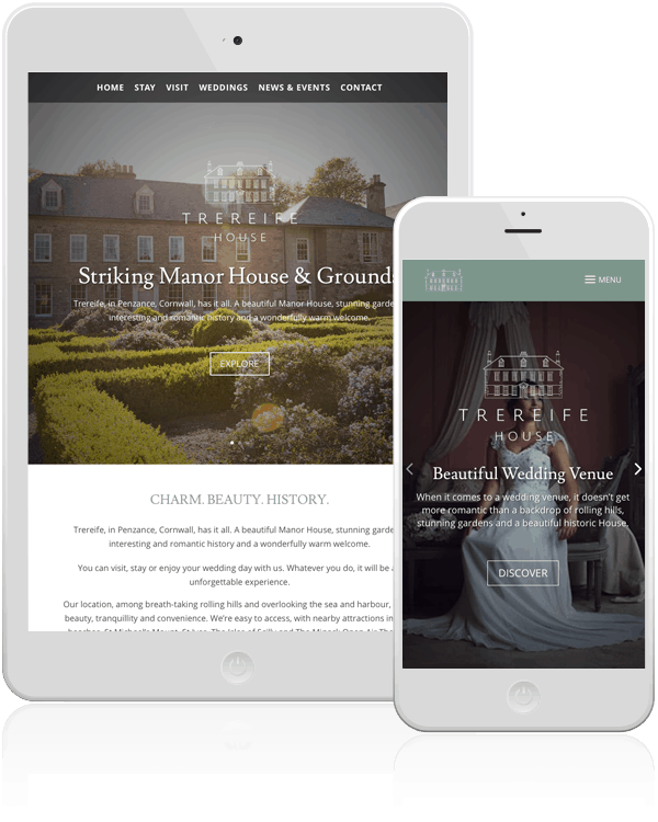 Bed and breakfast website design