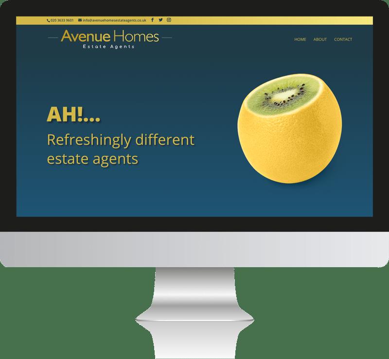 Avenue Homes Estate Agents Web Design