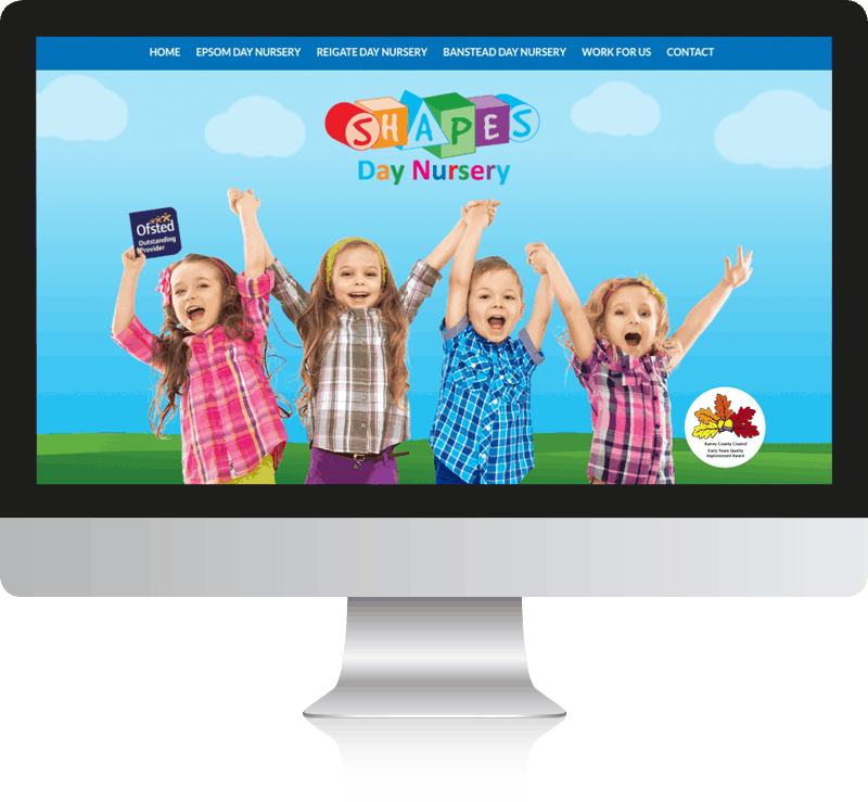 Shapes Day Nursery, WordPress Website Design