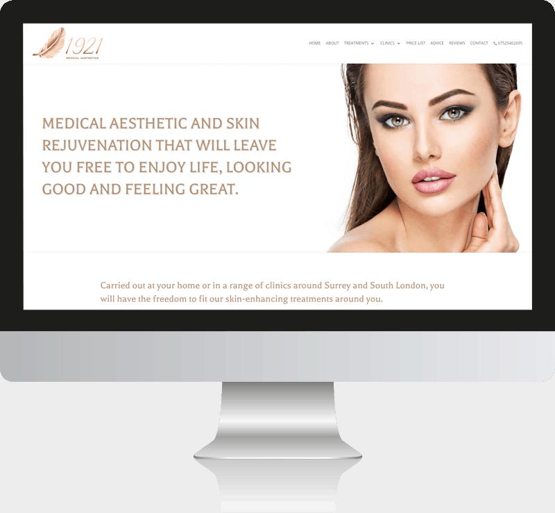 1921 Medical Aesthetics WordPress Website Design