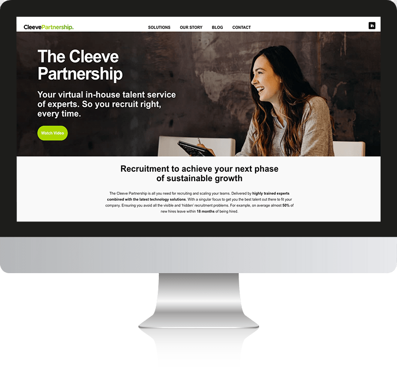 WordPress web design for Cleeve Partnership