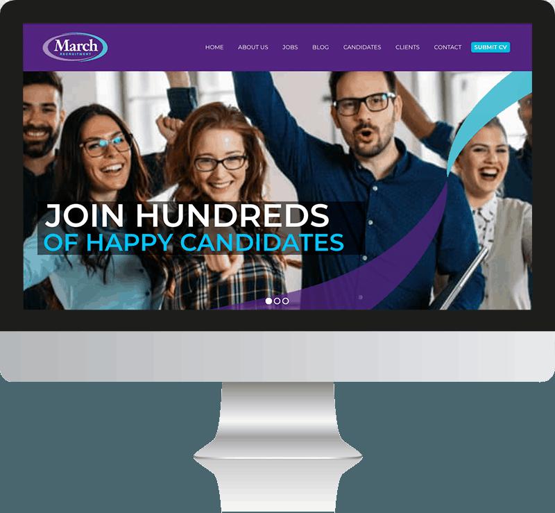 March Recruitment Web Design