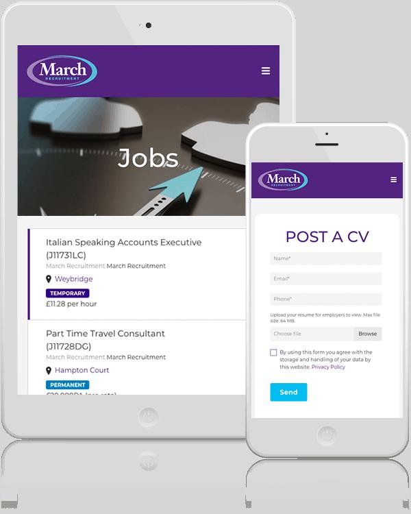 March Recruitment Mobile Web Design